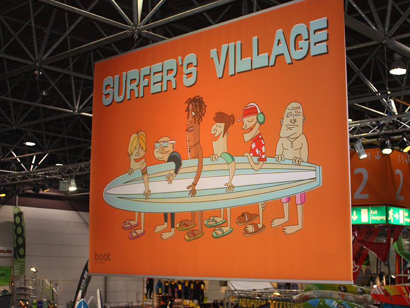 Illustration Messedesign Surfers Village